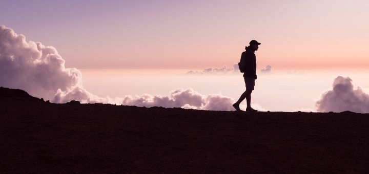 girl walking on clouds find meaning of life